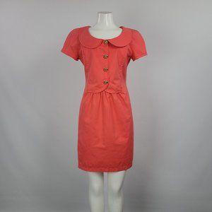 Vintage Valentino MissV Coral Cotton Dress Size 10